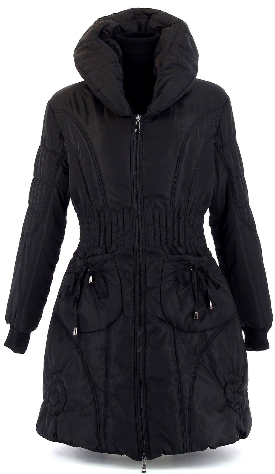 Doudoune longue hiver AMELIE noire