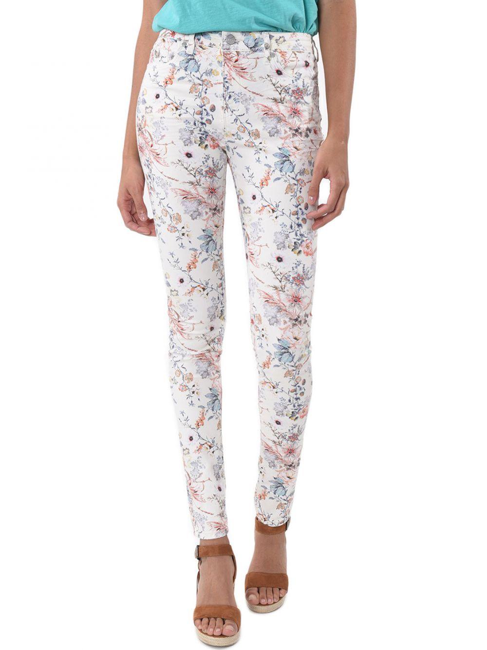 Jeans motif fleur