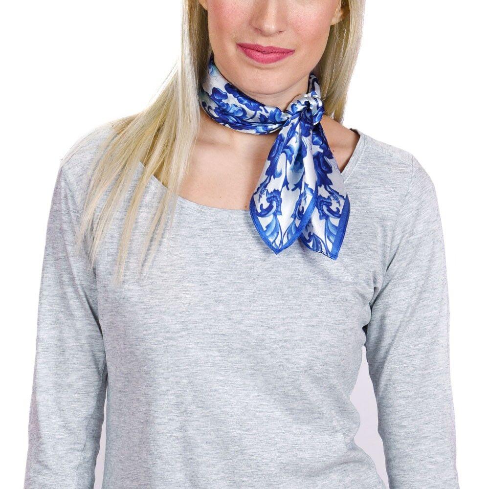 carr de soie piccolo aramis bleu 50x50 cm all e du foulard. Black Bedroom Furniture Sets. Home Design Ideas
