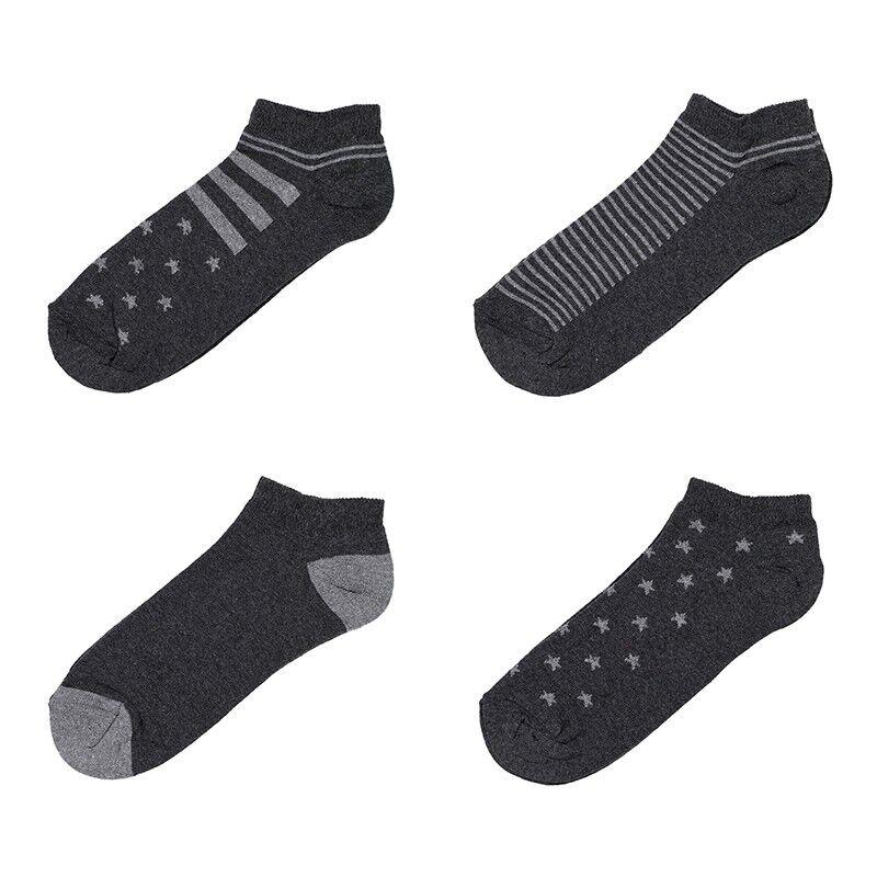 lot de 4 paires de chaussettes courtes pour homme la chaussetterie. Black Bedroom Furniture Sets. Home Design Ideas