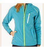 Peak Mountain - Blouson soft shell femme ANSO-turquoise preview1