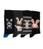 Chaussettes Homme Lot de 4 Lapins cretins preview1