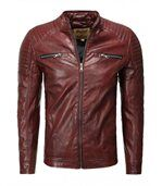 Blouson homme chic rouge preview1