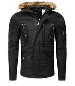 Blouson homme chaud hiver noir preview1
