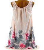 Robe  coton - ROSANNA - bohème  rose preview4