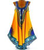 Robe  asymétrique bohème - INCAS -jaune preview4