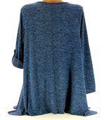 Tunique longue grande taille bleu PAMELLA preview5