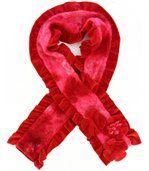 écharpe longue laine bouillie rouge  ANATOLE preview1