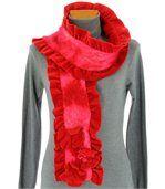 écharpe longue laine bouillie rouge  ANATOLE preview3
