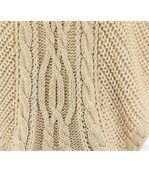 Poncho laine grosse maille beige ELODY preview4