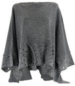 Pull poncho laine mohair ALEXANDRA gris preview1