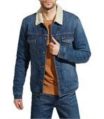Blouson Sherpa en jeans Wrangler Blue Note preview1