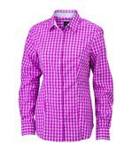 chemisier chemise manches longues FEMME carreaux vichy JN616 - violet pourpre preview1