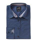 chemisier manches longues - JN671 - FEMME - bleu - blanc - motifs wings preview1