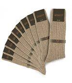 Chaussettes homme Mokalunga taupe (Lot de 10 paires) - Fabriqué en europe preview1