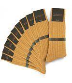 Chaussettes homme Mokalunga caramel (Lot de 10 paires) - Fabriqué en europe preview1