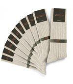 Chaussettes homme Mokalunga beige (Lot de 10 paires) - Fabriqué en europe preview1