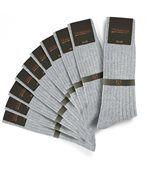 Chaussettes homme Mokalunga gris (Lot de 10 paires) - Fabriqué en europe preview1