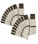 Chaussettes homme Mokalunga beige (Lot de 20 paires) - Fabriqué en europe preview1