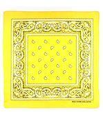 Foulard bandana jaune pâle preview2
