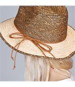 Chapeau de paille Rafia Marron - Taille réglable preview3