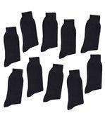 LOT DE 10 PAIRES de mi-chaussettes 100% pur fil d'Ecosse fraîcheur active preview1