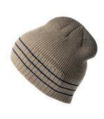 Bonnet tricot beige rayures marines preview1