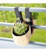Double jardinière suspendue en toile de jute pour balcon preview1