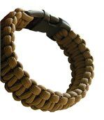 Bracelet Paracord coyote Bushcraft BCB preview2