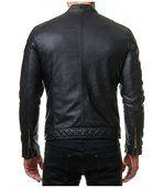 Blouson imitation cuir homme noir pas cher tendance preview4