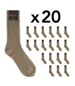 Chaussettes homme Mokalunga taupe (Lot de 20 paires) preview2