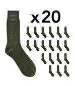 Chaussettes homme Mokalunga vert kaki (Lot de 20 paires) preview2