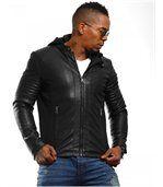 Blouson homme fashion noir preview1