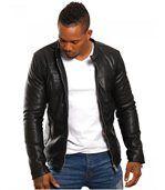 Blouson homme mode noir preview1