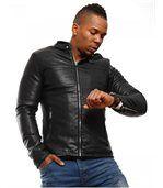 Blouson homme mode noir preview3