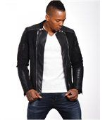 Blouson homme faux cuir noir preview1