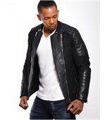 Blouson homme faux cuir noir preview3