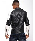 Blouson homme imitation cuir blanc preview4