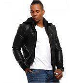 Blouson homme à la mode noir preview3