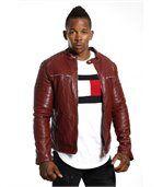 Blouson homme faux cuir rouge preview3