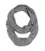 Foulard tube Rayures NOIRES preview1