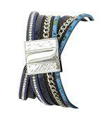 Très Belle Montre Femme Cuir Bleu Double-Bracelet M. JOHN 1080 preview2