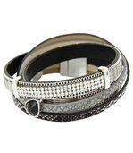 Bracelet de Femme Cuir Gris Incrusté DAPHNEE 10 preview1