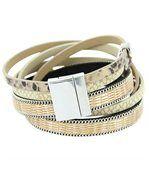 Bracelet pour Femme Cuir Marron Incrusté DAPHNEE 149 preview2