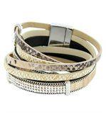 Bracelet pour Femme Cuir Marron Incrusté DAPHNEE 149 preview1