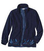 Vyšívaná fleecová bunda preview2