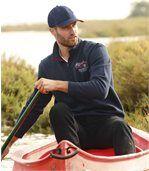 Men's Navy Canada Brushed Fleece Jumper