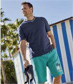 Set van 3 Sea Side T-shirts met V-hals preview2