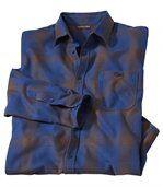 Tweekleurig flanellen overhemd preview1