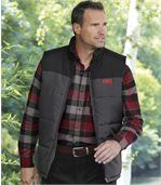 Men's Stylish Padded Gilet – Black Grey preview1